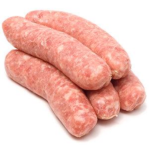 Salchichas de cerdo frescas