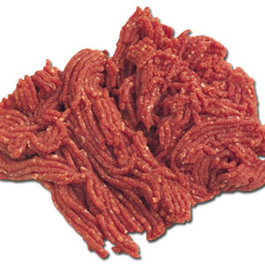 Carne picada de ternera.