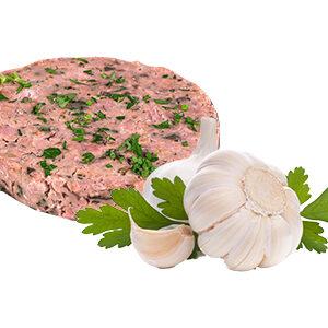 Hamburguesa de pollo con ajo y perejil