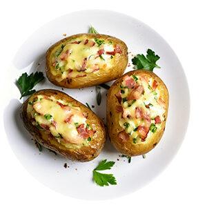 Patatas Rellenas De Cebolla Caramelizada Y Queso Cabra
